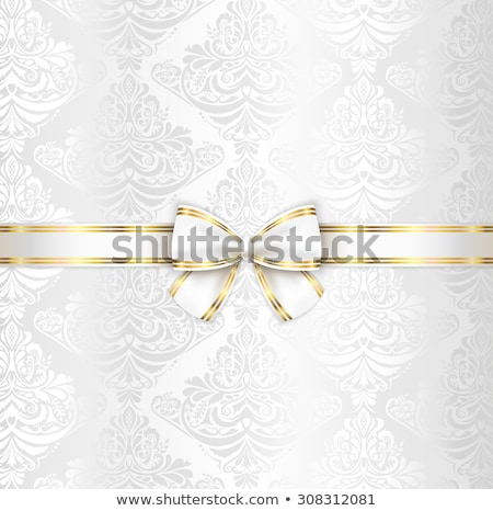 Blanche luxe mariage couvrir modèle ruban Photo stock © liliwhite
