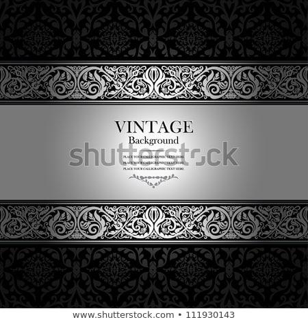 Luxe argent ornement modèle exclusif wallpaper Photo stock © liliwhite