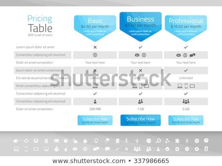 Licht tabel opties witte Stockfoto © liliwhite