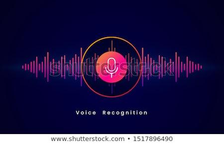 Audio gomb szett kép enyém zene Stock fotó © UltraPop