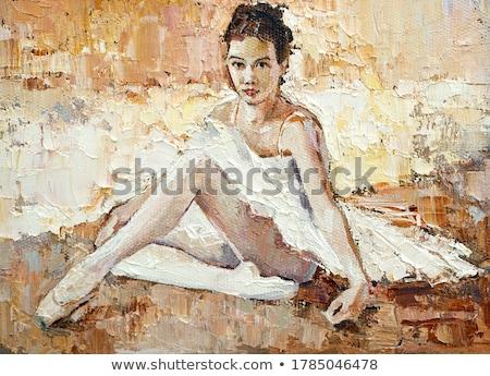 バレエシューズ · 小さな · 女性 · バレエダンサー · ネクタイ - ストックフォト © deandrobot