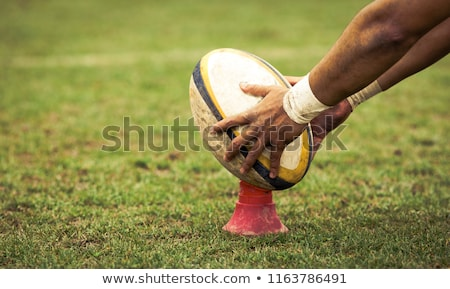 Rugby player kicking a rugby ball Stock photo © wavebreak_media