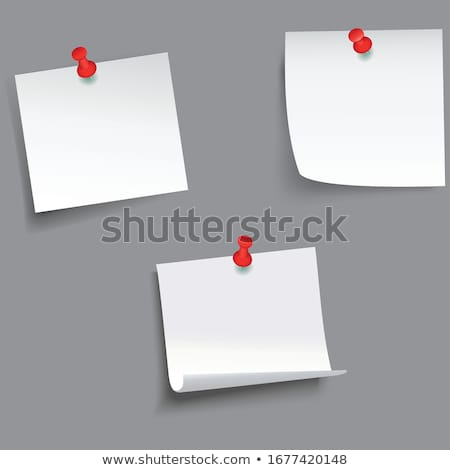Stock photo: paper with push pin