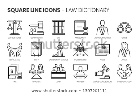 Crime and Punishment Icons Stock photo © -TAlex-