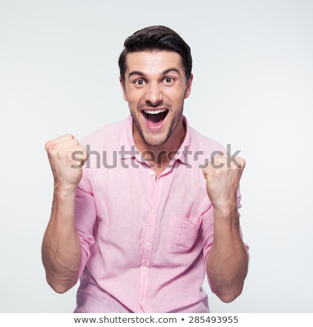 man celebrating his achievement stock photo © klikk