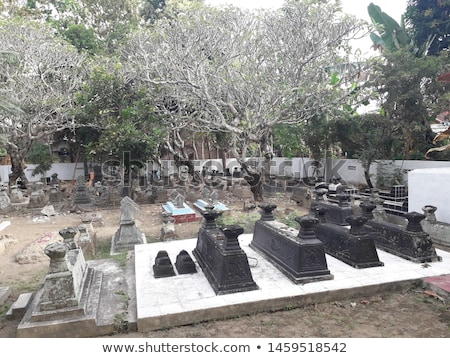 islamic fresh grave on cemetery stock photo © zurijeta