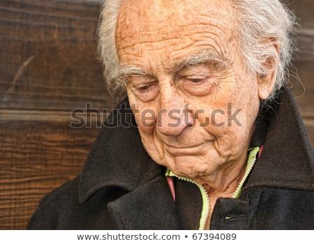 mooie · afbeelding · eenzaam · oude · man · gezicht · model - stockfoto © zurijeta