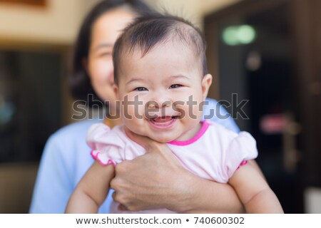 Közelkép portré ártatlan gyerek aranyos mosoly Stock fotó © zurijeta