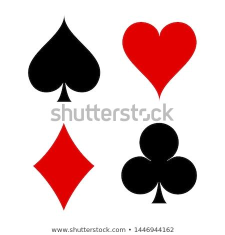 Bağbozumu kumarhane poker maçalar kart kâğıt Stok fotoğraf © carodi