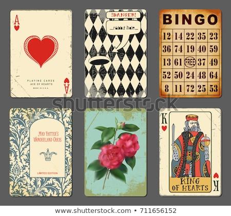 vintage · dia · dos · namorados · cartão · fita · papel - foto stock © carodi