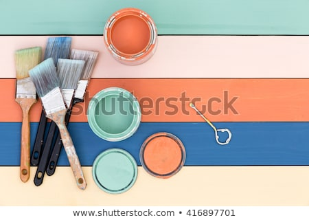Green, blue and rose colored stained wood Stock photo © ozgur