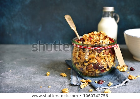 Granola cereal with hazelnuts Stock photo © Digifoodstock