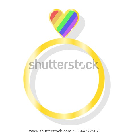 Gold lesbians couple symbol  Stock photo © oxygen64