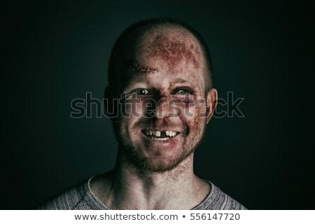 портрет смешные раненый истребитель раненый спорт Сток-фото © majdansky