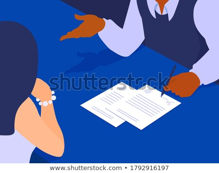 Faceless people sitting across each other Stock photo © bluering