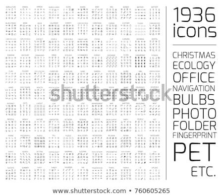 huisdier · dierenarts · lijn · vector · dun - stockfoto © voysla
