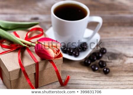 チューリップ 木材 素朴な コピースペース 春 ストックフォト © tab62