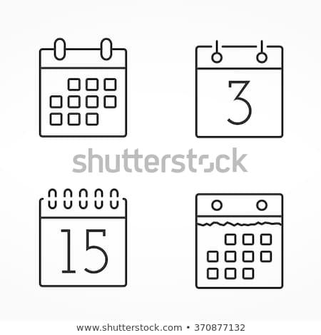 Сток-фото: икона · календаря · спиральных · чистый · лист · бумаги · 3d · иллюстрации