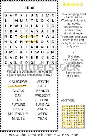 головоломки слово будущем головоломки строительство игрушку Сток-фото © fuzzbones0