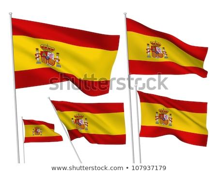 Spanyolország · zászló · szett · fehér · absztrakt · terv - stock fotó © doomko
