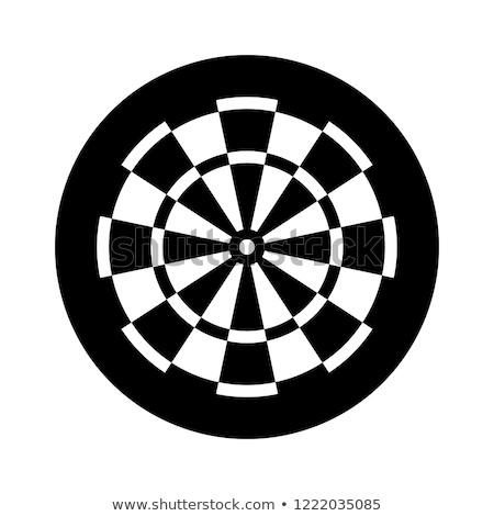 Ikonok darts illusztráció fehér háttér piros Stock fotó © bluering