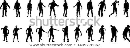 Grupo ilustración edificio pared espacio caminando Foto stock © bluering