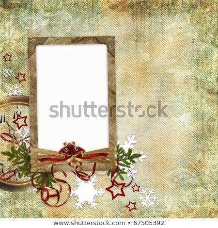 instant photo christmas stars snowflakes stock photo © limbi007