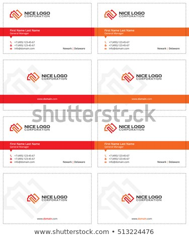 square meter business card 2 stock photo © vadimsoloviev