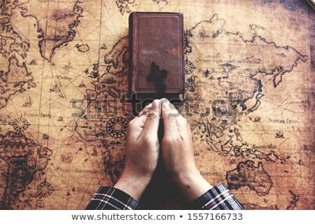 oração · jovem · pequeno · monge · oração - foto stock © stevanovicigor