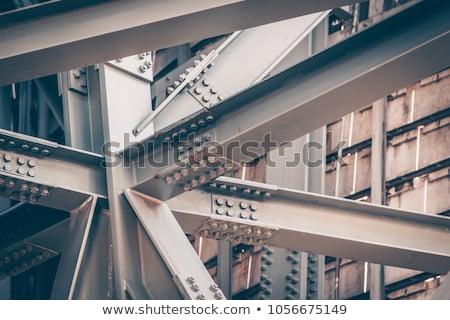 Starych most stali struktury wsparcia Zdjęcia stock © tracer