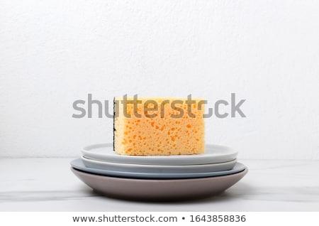 кухне губки керамической блюдо зеленый Сток-фото © Digifoodstock