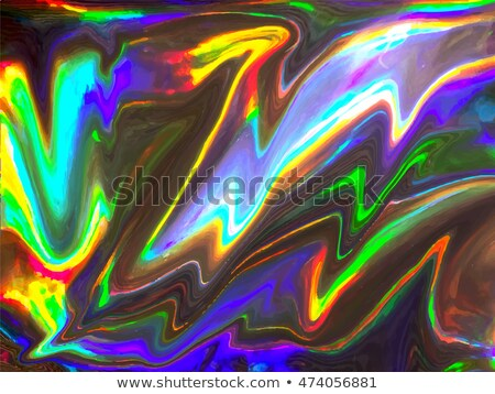Holographic neon trend 80s vector gradient design Stock photo © saicle