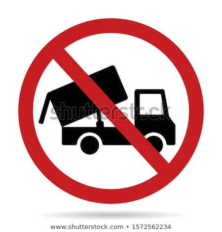 construction icon for tip truck stock photo © bluering