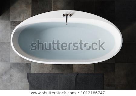 badkamer · detail · witte · familie · huis · ontspannen - stockfoto © kayros