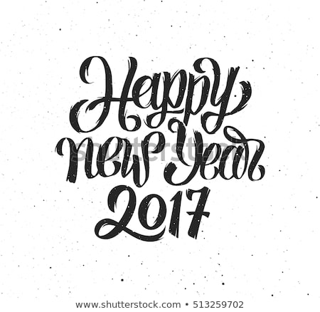 creative 2017 lettering on black ink background Stock photo © SArts