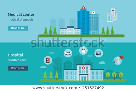 cardiogram and medical services icon flat design stock photo © wad