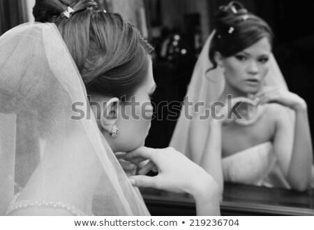 小さな いい 花嫁 見える ミラー 結婚式 ストックフォト © dariazu