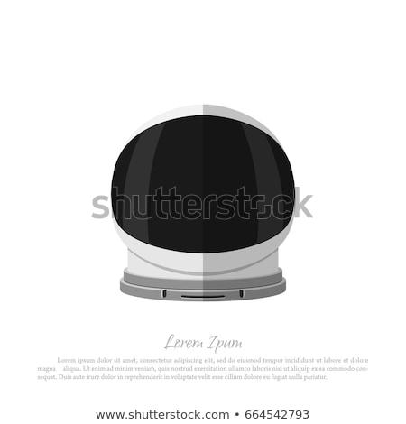 Capacete astronauta isolado boné branco Foto stock © popaukropa