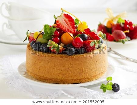 Vruchten cake aardbei zoete bes versheid Stockfoto © M-studio