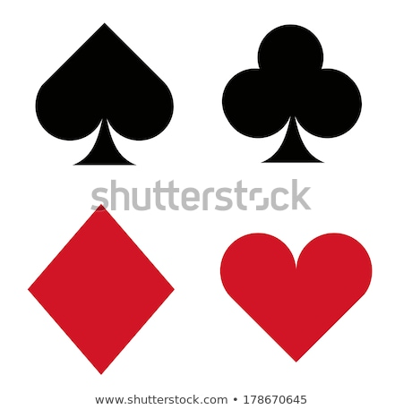 Diamante corações pôquer elementos moda fundo Foto stock © carodi