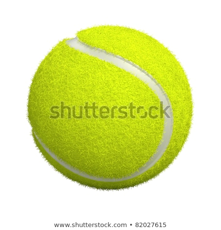 3D render of a yellow tennis ball Stock photo © danilo_vuletic