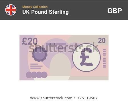 pound currency background   20 pounds stock photo © michaklootwijk