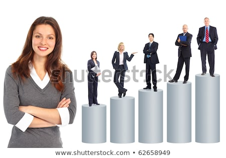 Growth in blue over white background Stock photo © bestmoose
