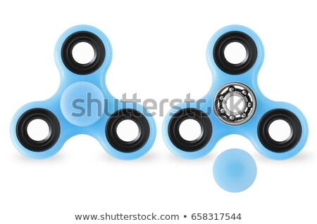 Fidget spinners on white background - closed and opened cap Stock photo © elly_l