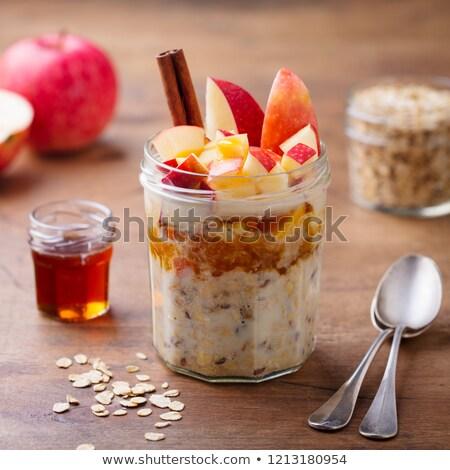 йогурт плодов мюсли продовольствие стекла фон Сток-фото © M-studio