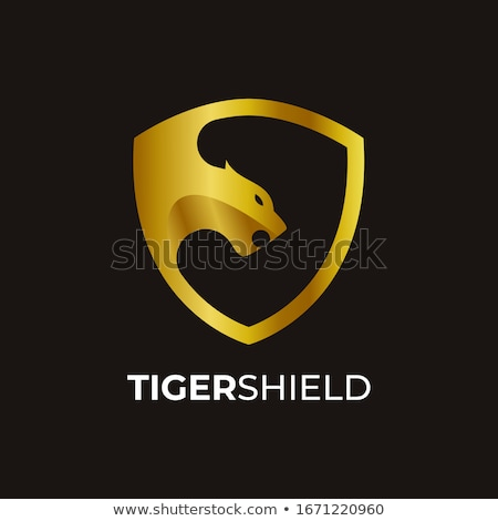shield emblem template with puma head design elements for logo stock photo © masay256