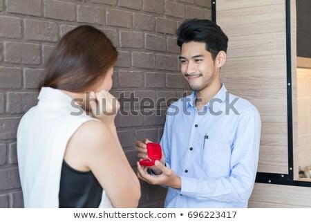 Romantic om căsătorie propunere afaceri Imagine de stoc © Elnur