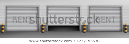 Private car garage entrance door Stock photo © stevanovicigor