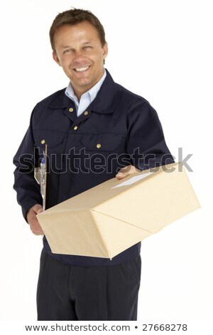 Courier Extending His Hand For A Handshake And Holding A Parcel Stock photo © monkey_business