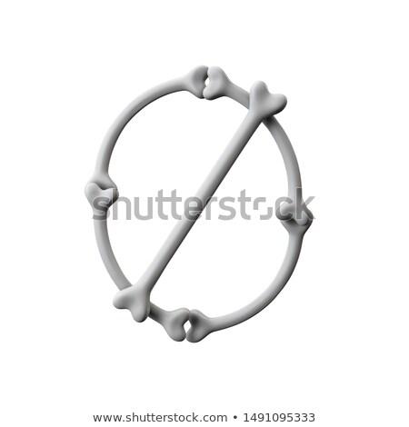 aantal · nul · chroom · object · witte · ontwerp - stockfoto © maryvalery